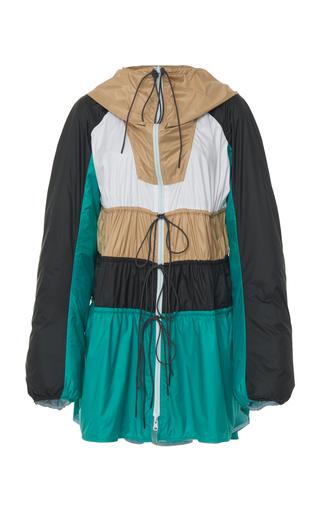 SPORTMAX   Sportmax Scire Color-Block Shell Hooded Jacket   Goxip