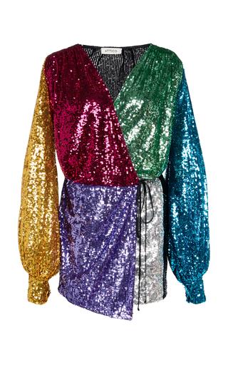 Multicolor Sequin Mini Wrap Dress By Attico Moda Operandi