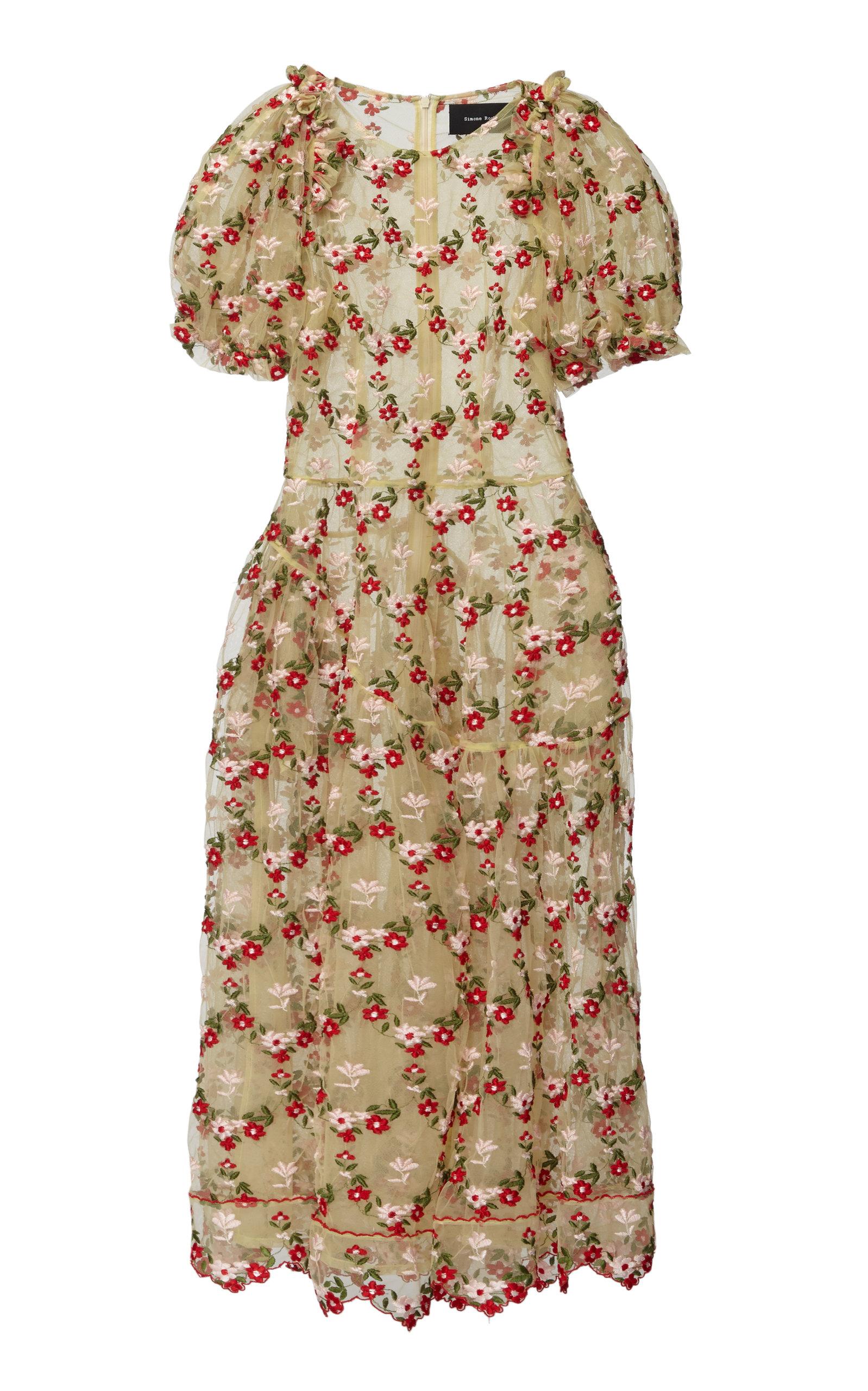 8b0ac86dbbe0e4 Simone RochaLace Tulle Full Midi Dress. CLOSE. Loading