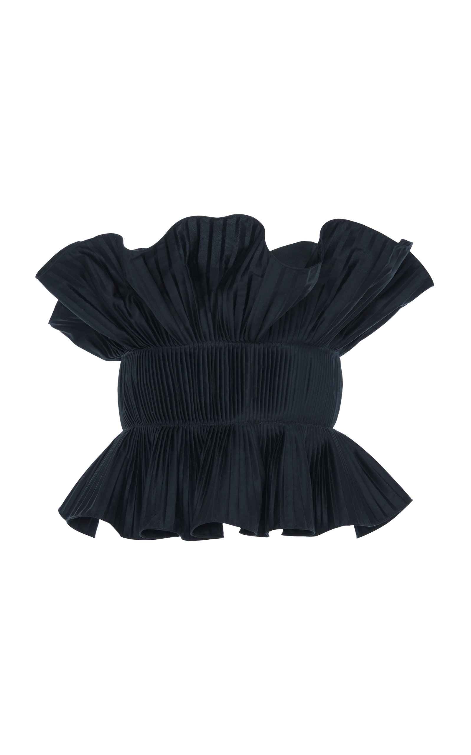 3e1d86b9509 Johanna OrtizAndaliza Hechicera Strapless Pleated Cotton Poplin Top. CLOSE.  Loading