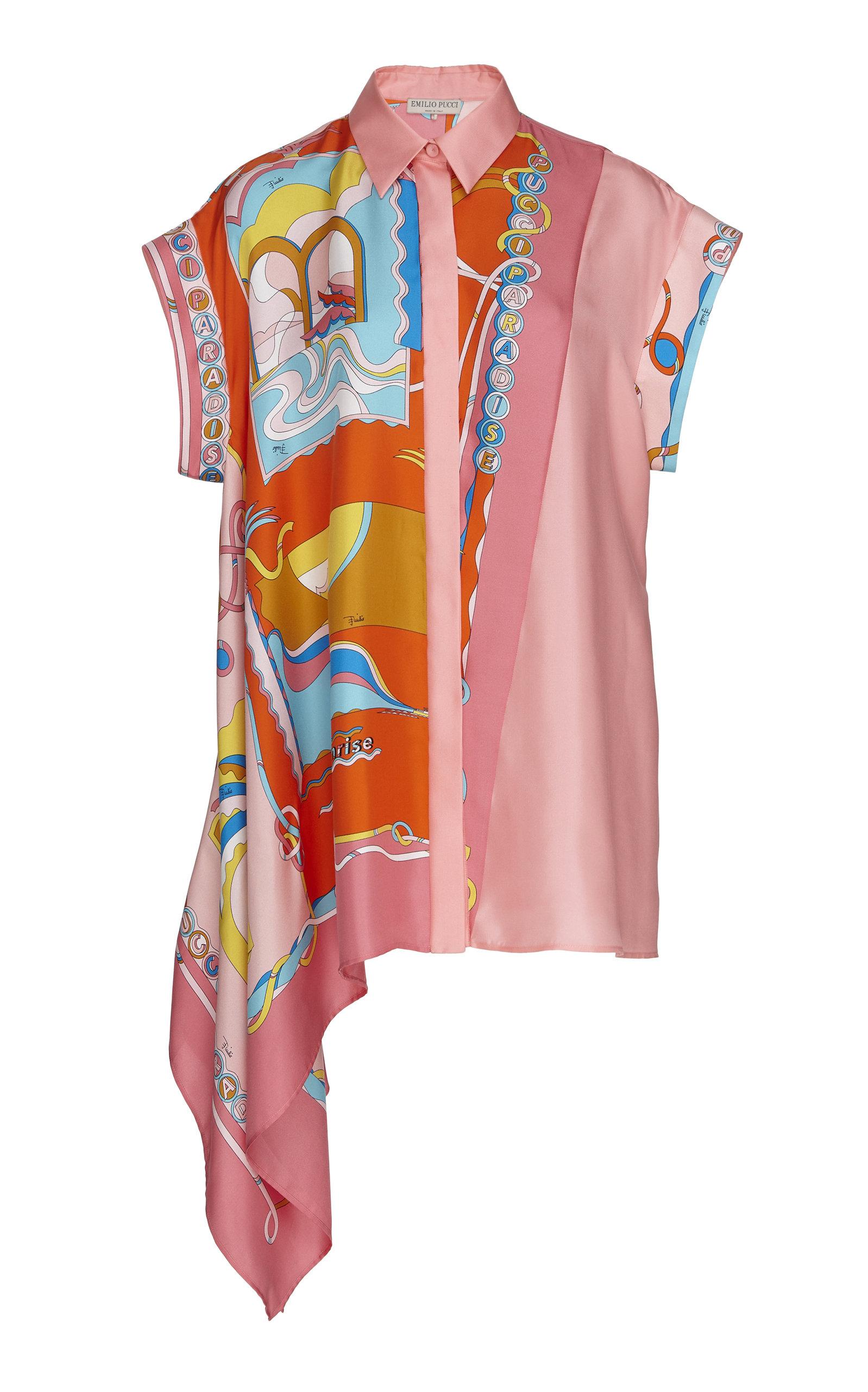 720119063b6 Asymmetric Short-Sleeve Silk Shirt by Emilio Pucci | Moda Operandi