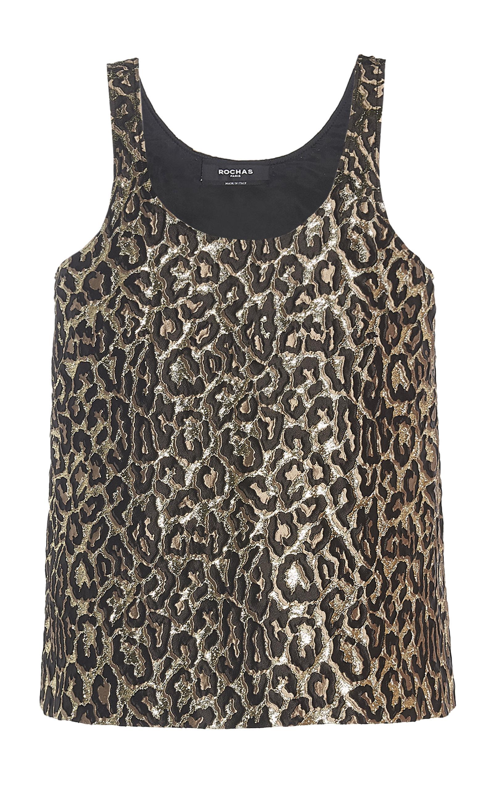 ROCHAS | Rochas Octavia Leopard-Print Brocade Tank Top | Goxip