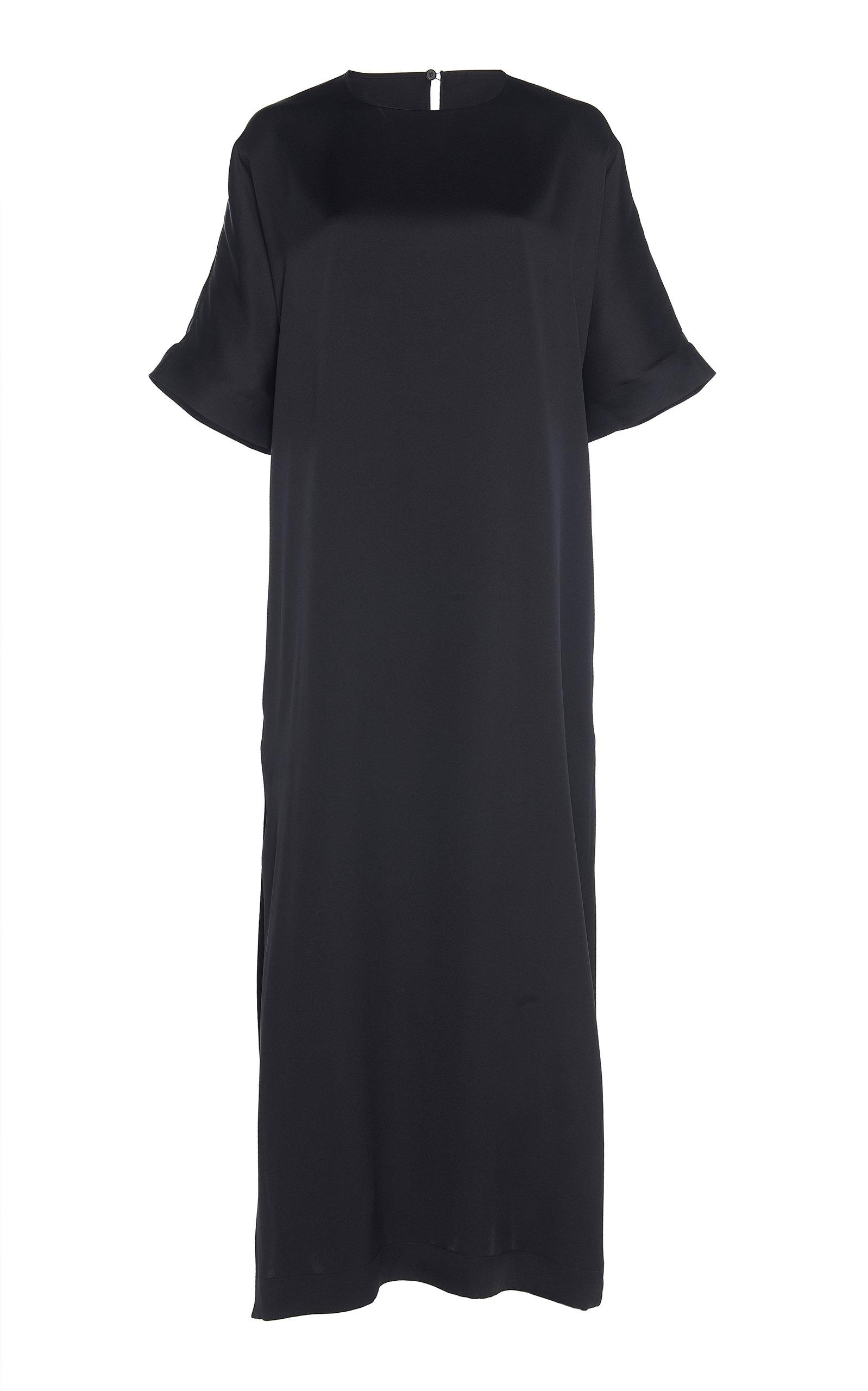 Rochas OSPREY DOUBLE SILK-SATIN DRESS