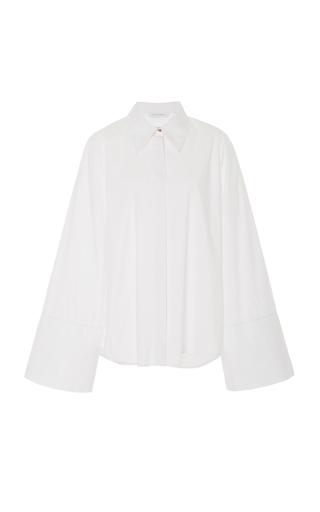 NOBODY | Nobody Denim Studio Bell-Sleeve Cotton-Poplin Shirt | Goxip