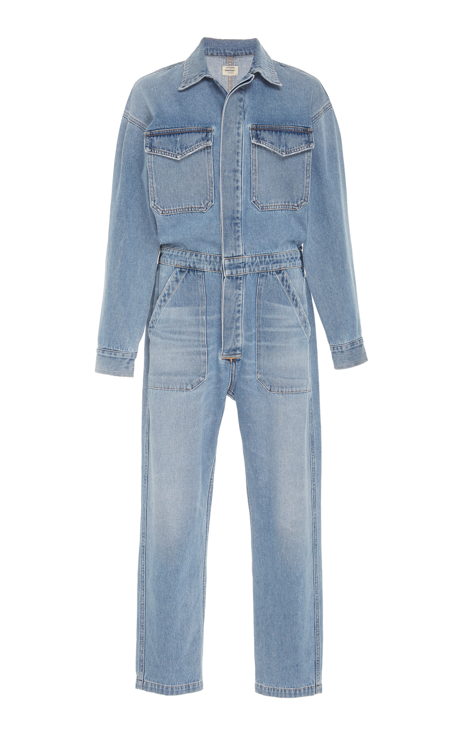 9dd383ffd83 Marta Cropped Denim Jumpsuit by Citizens of Humanity