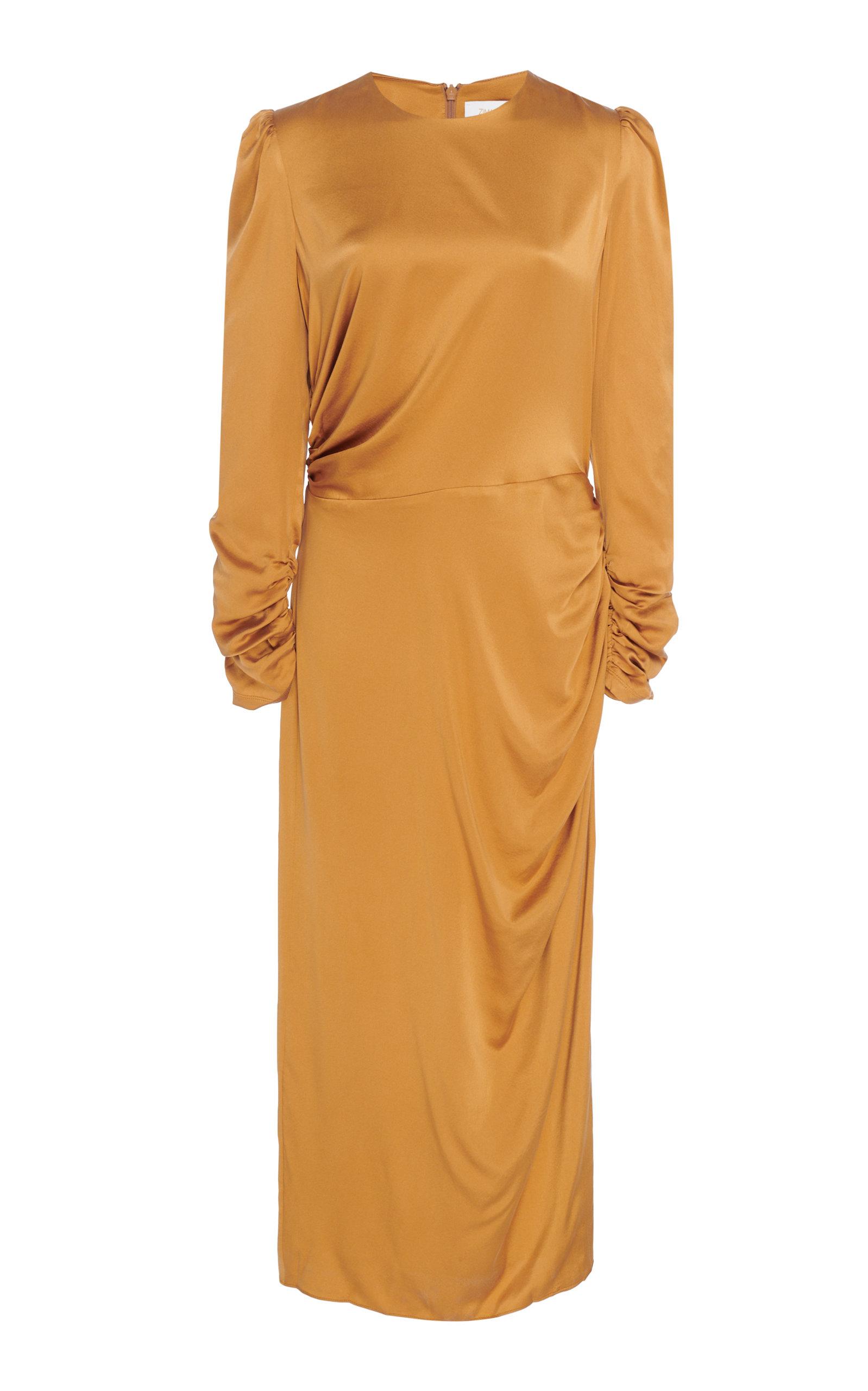 Exclusive Ruched Silk Midi Dress by Zimmermann