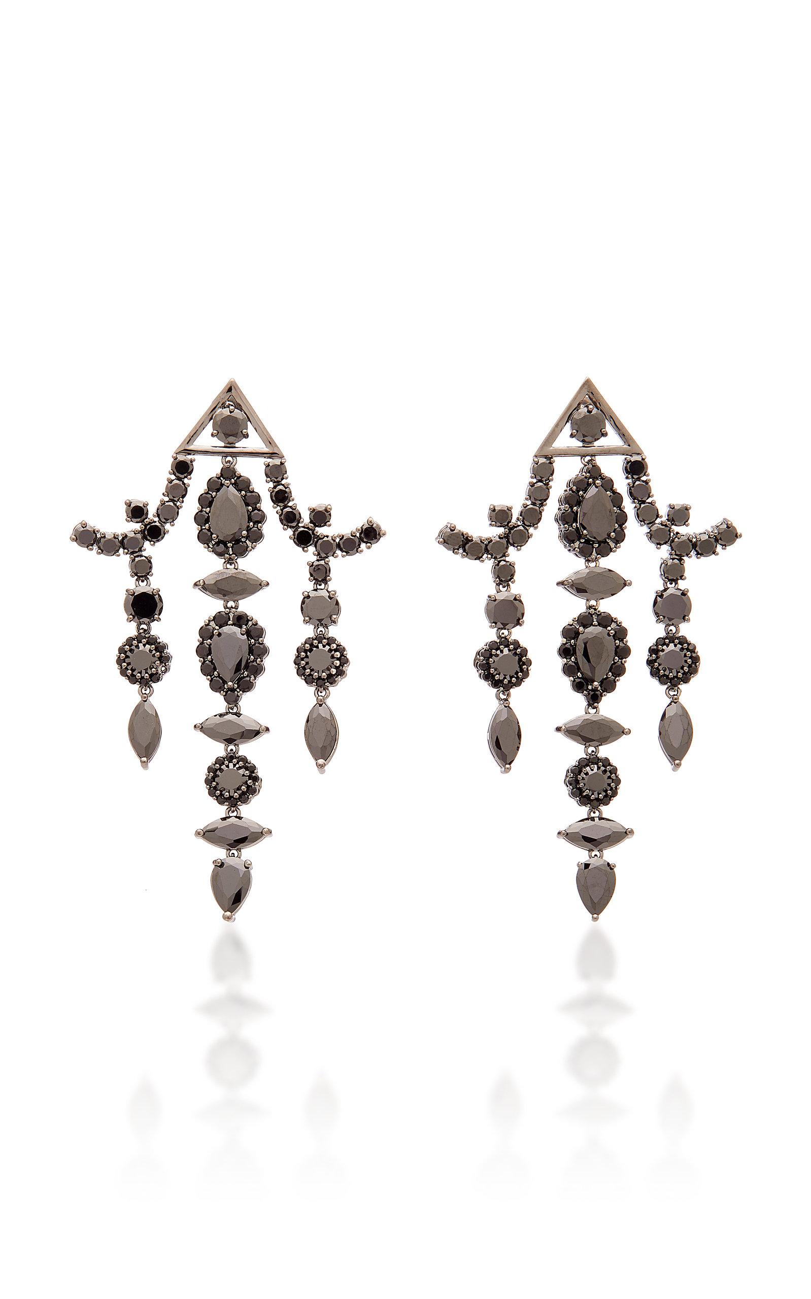Pagoda Crystal Chandelier Earrings
