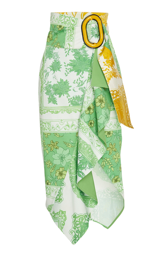 SILVIA TCHERASSI   Silvia Tcherassi Waterloo Ruffled Cotton-Blend Skirt   Goxip