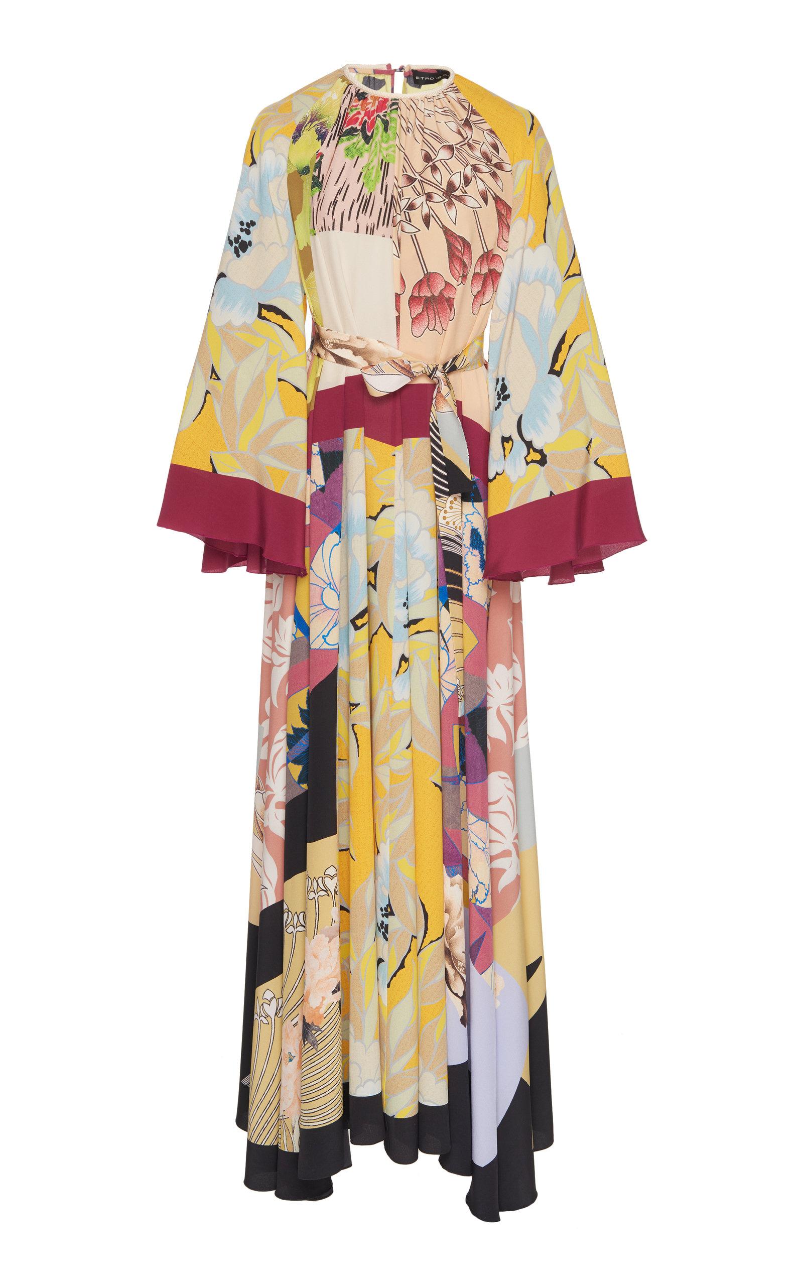 best service 615e0 4c3ea Printed Silk Maxi Dress