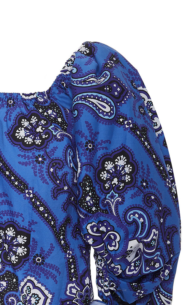 b2905a371c297 Nella Off-The-Shoulder Floral-Print Cotton-Poplin Top by Caroline ...