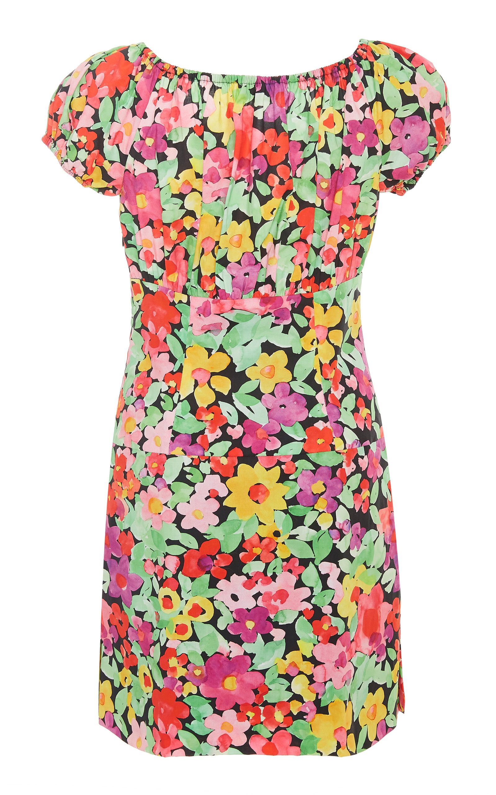 076959de112d Caroline ConstasCalla Off-The-Shoulder Floral-Print Cotton Mini Dress.  CLOSE. Loading. Loading