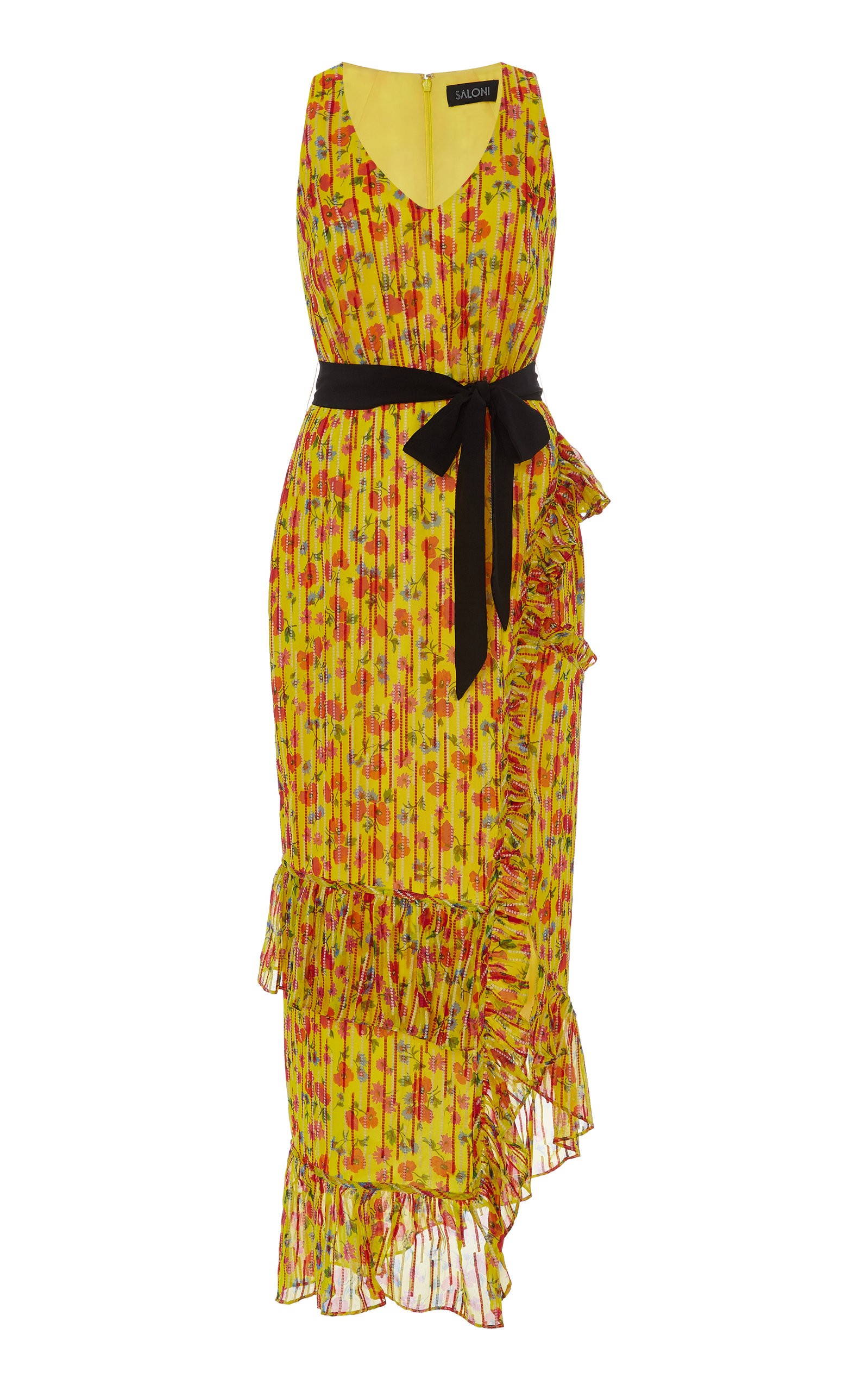 7161858feb Rosalind Printed Chiffon Maxi Dress by Saloni
