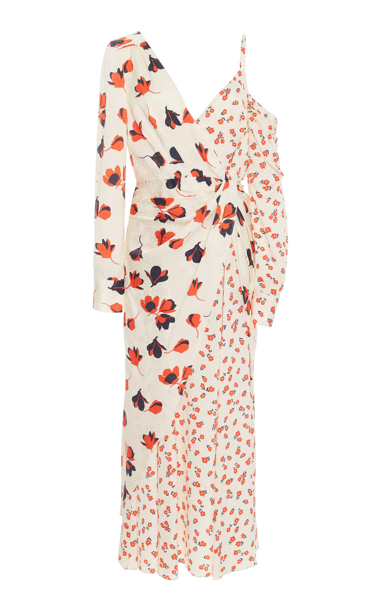 abf4e08bf455 Self PortraitCold-Shoulder Floral-Print Crepe De Chine Dress. CLOSE. Loading