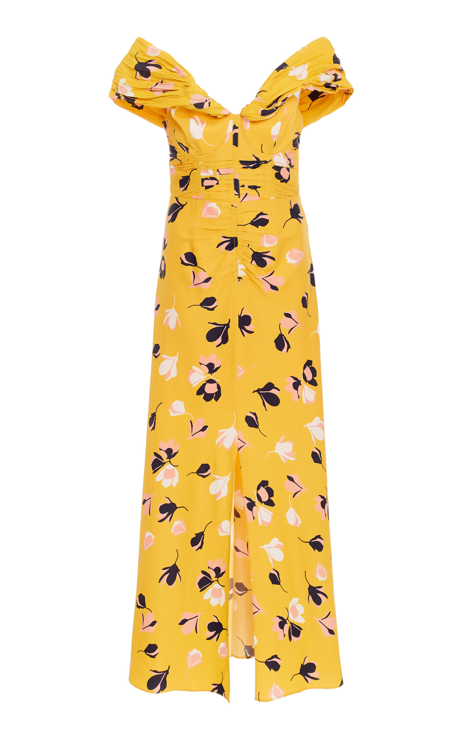 776ceffc114 Exclusive Floral-Print Jersey Midi Dress by Self Portrait