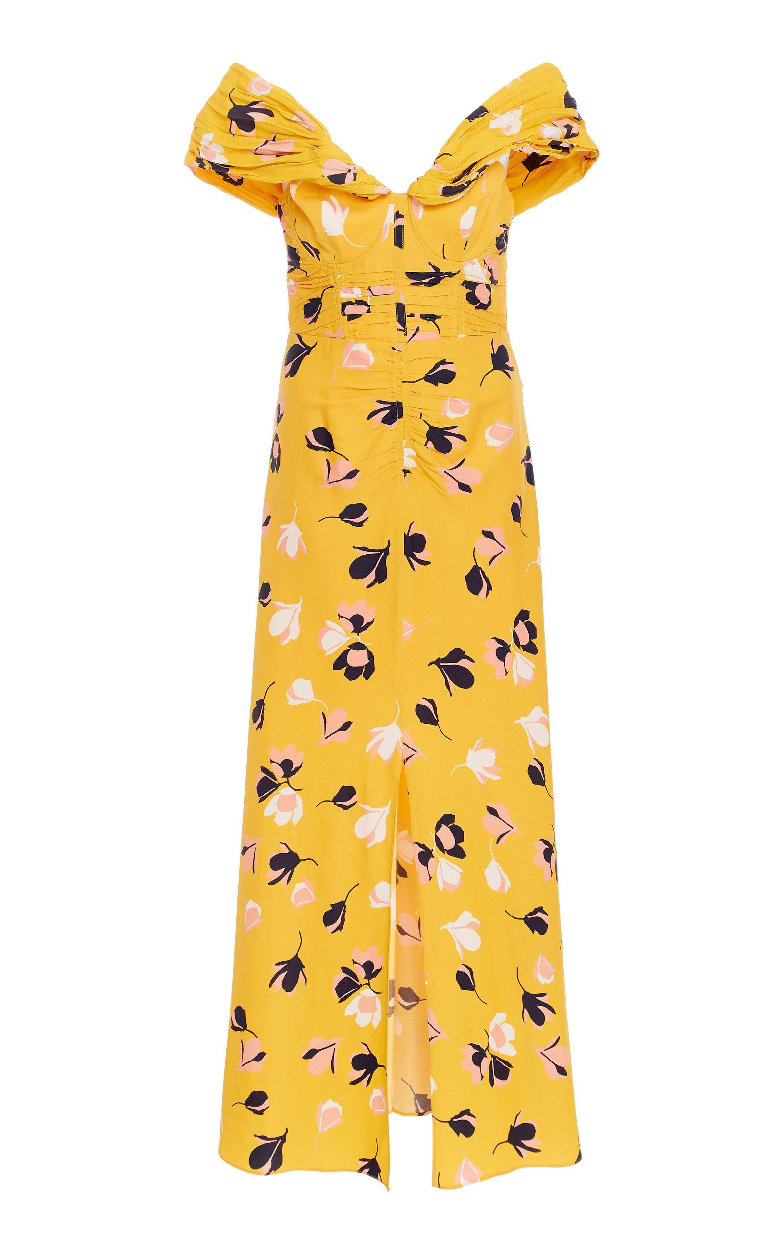 b61870645af5 Self PortraitExclusive Floral-Print Jersey Midi Dress. CLOSE. Loading