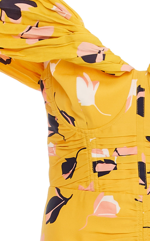 664cfe72c5d5 Self PortraitExclusive Floral-Print Jersey Midi Dress. CLOSE. Loading.  Loading. Loading