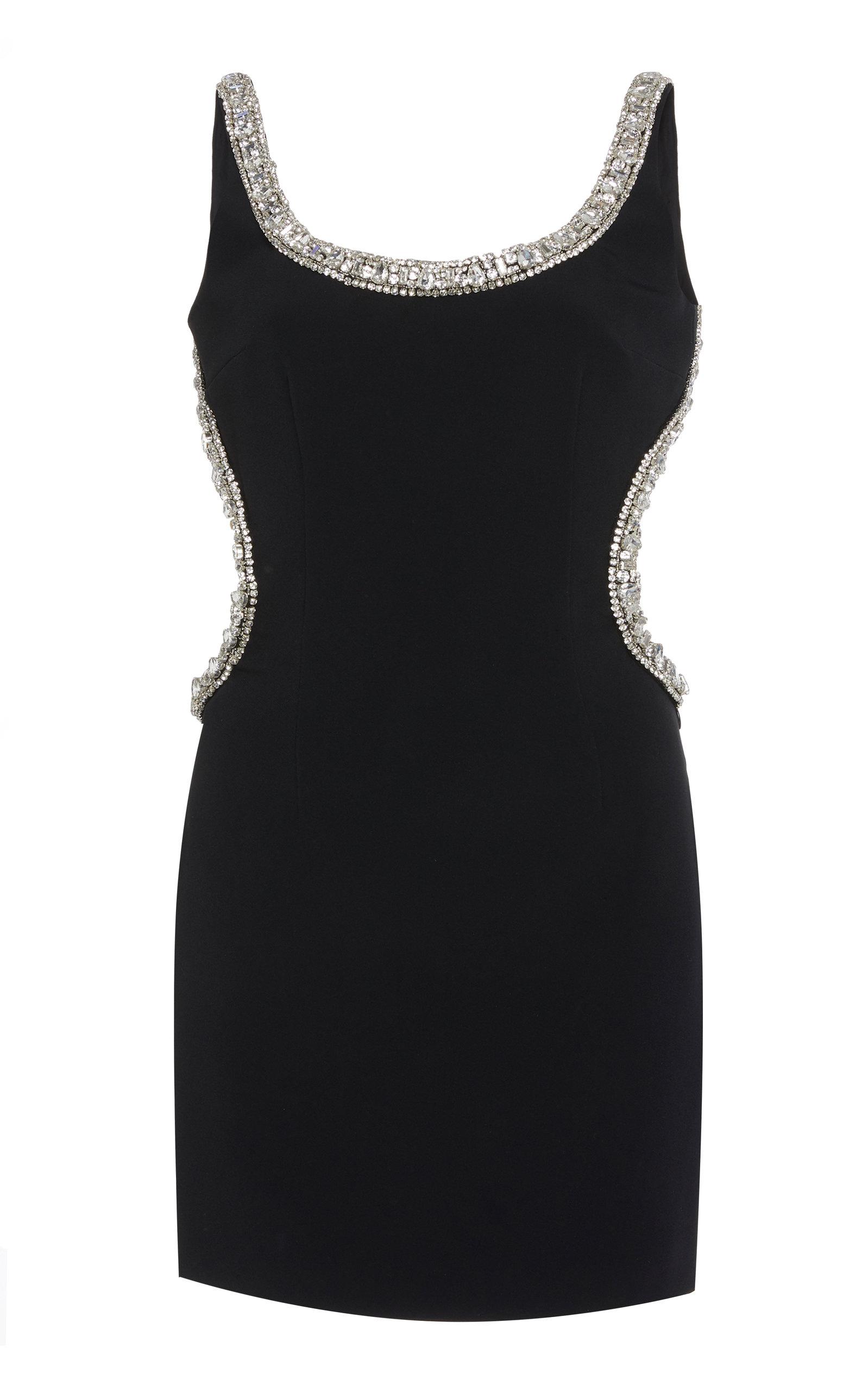 Alessandra Rich Embellished Crepe Mini Dress