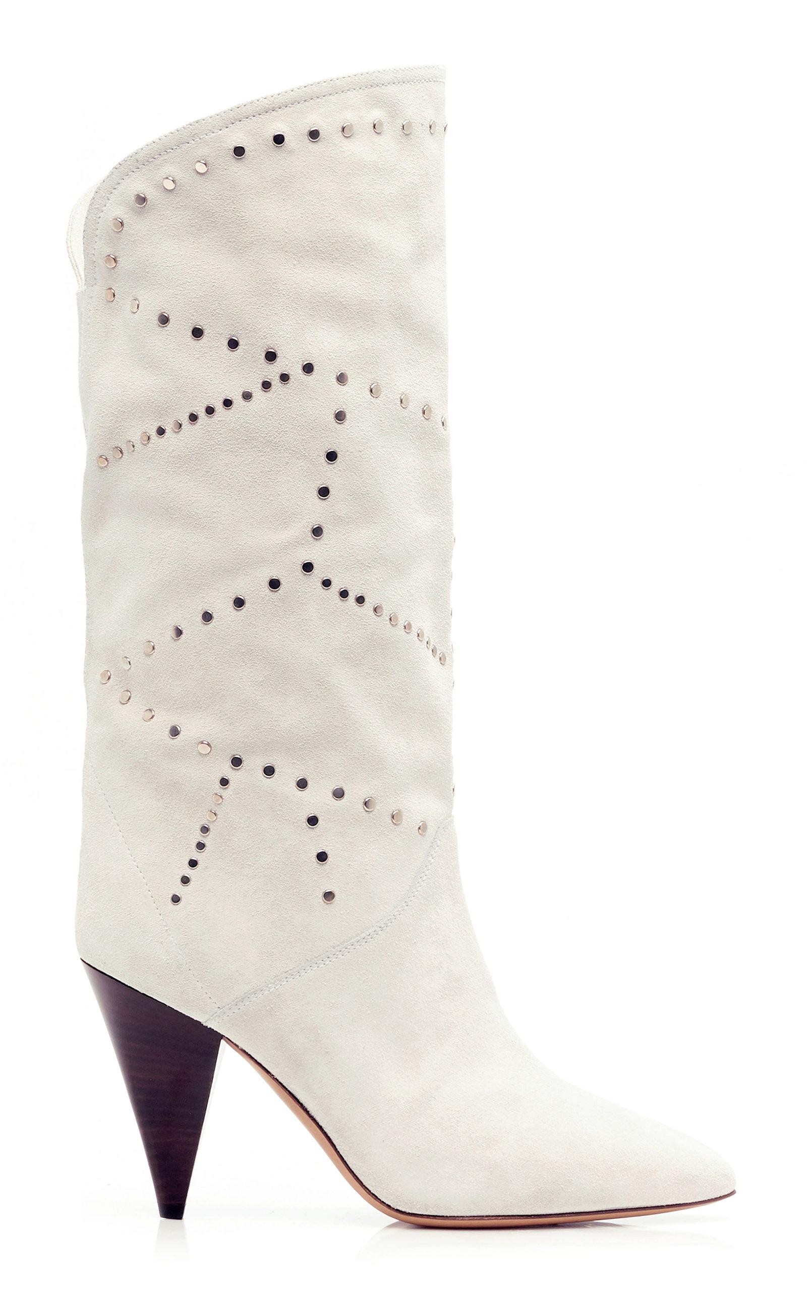 e0e83cde8b8 Lestee Perforated Leather Boots by Isabel Marant | Moda Operandi