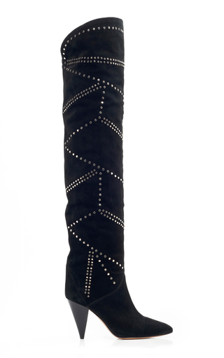 ISABEL MARANT | Isabel Marant Ladra Leather Over-The-Knee Boots | Goxip