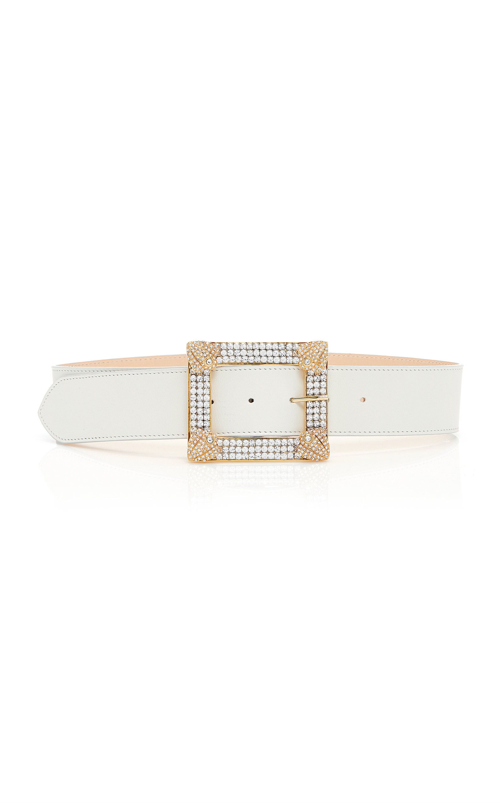 Crystal Embellished Leather Belt by Alessandra Rich