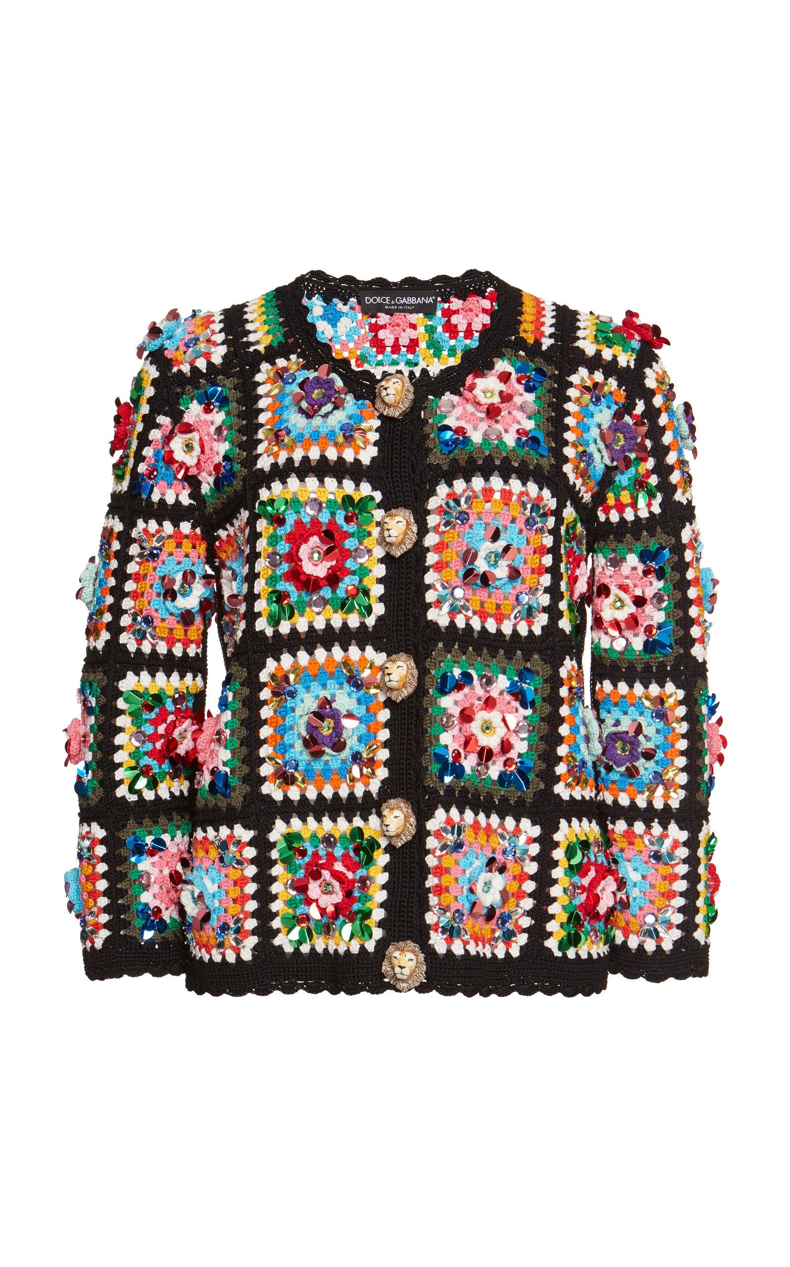 4101add4 Hand-Woven Knit Jacket by Dolce & Gabbana | Moda Operandi
