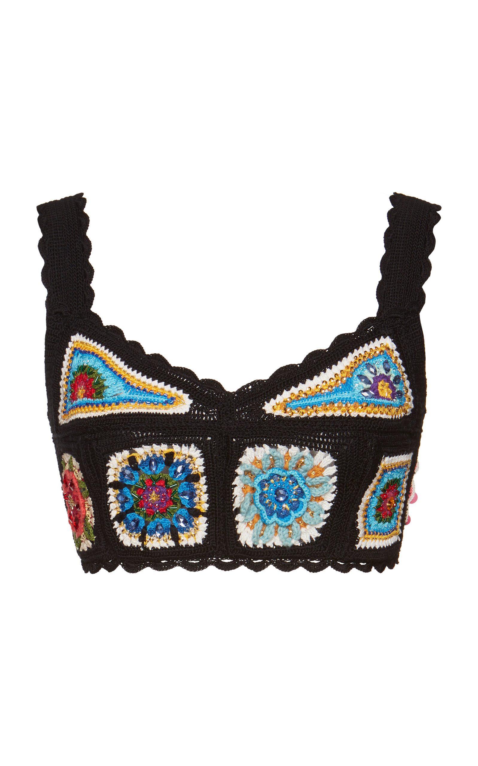 75f07bf5840c3 Dolce   GabbanaHand-Crocheted Cropped Top. CLOSE. Loading
