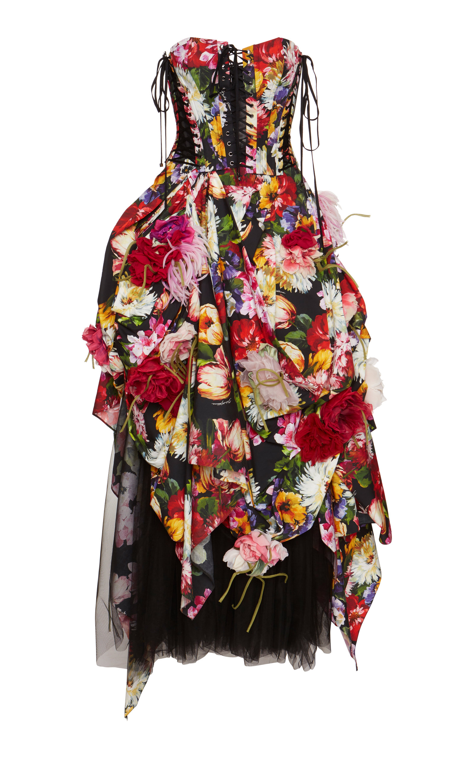 d0355a5541 Dolce   GabbanaFloral Poplin Tiered Gown. CLOSE. Loading