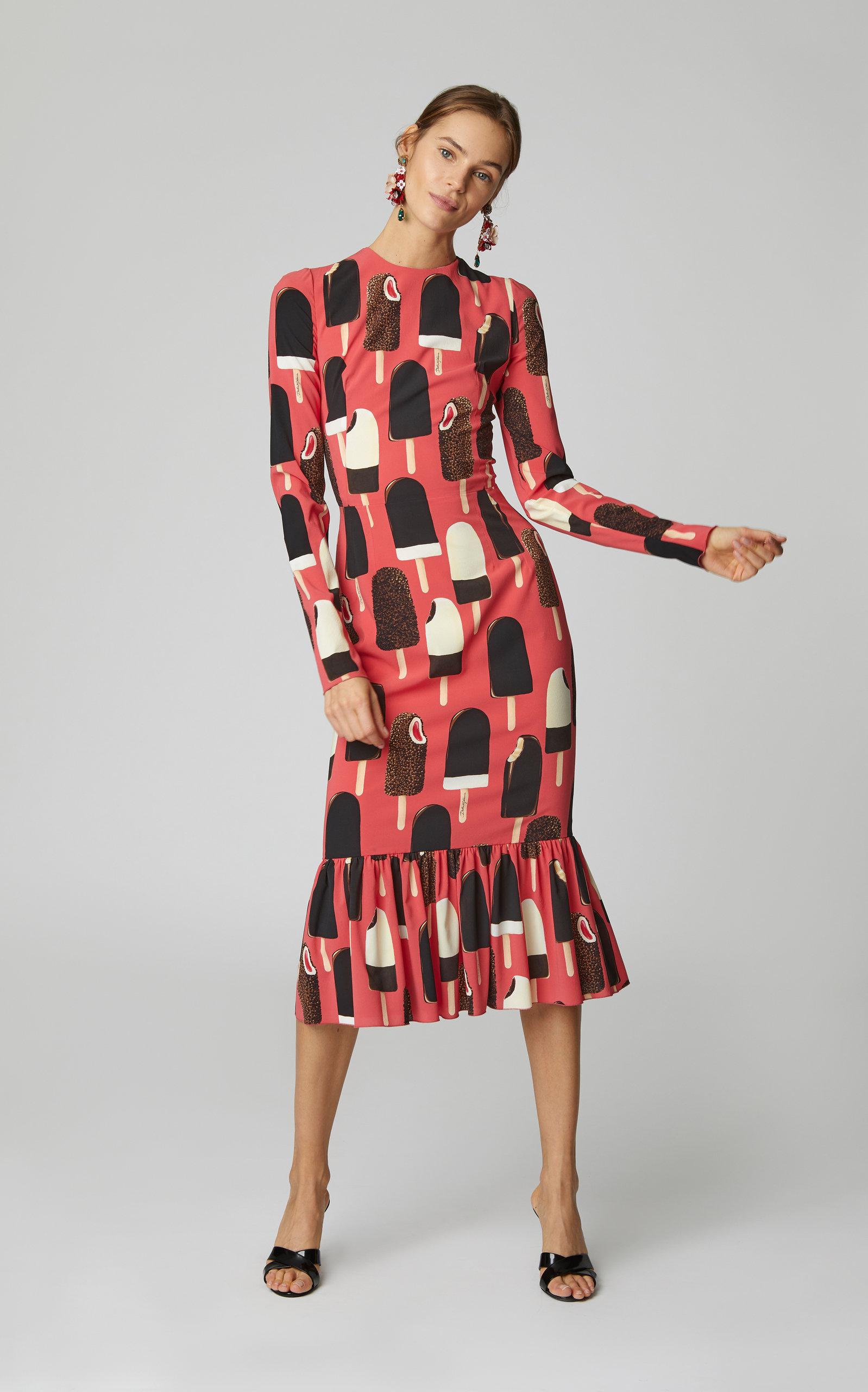 5f83f83db6b Dolce   GabbanaIce Cream Charmeuse Dress. CLOSE. Loading