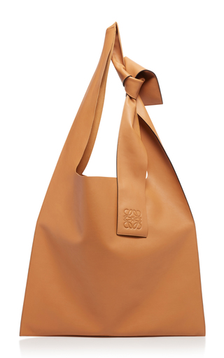 LOEWE | Loewe Bow-Detailed Leather Shoulder Bag | Goxip