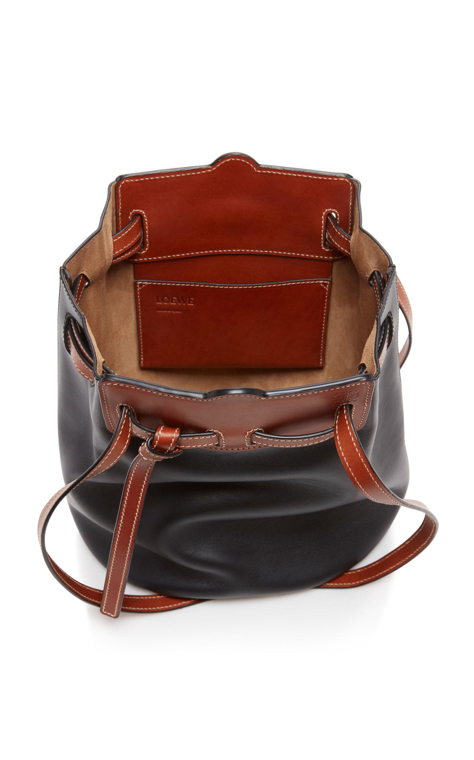 Ruk Two Tone Leather Bucket Bag