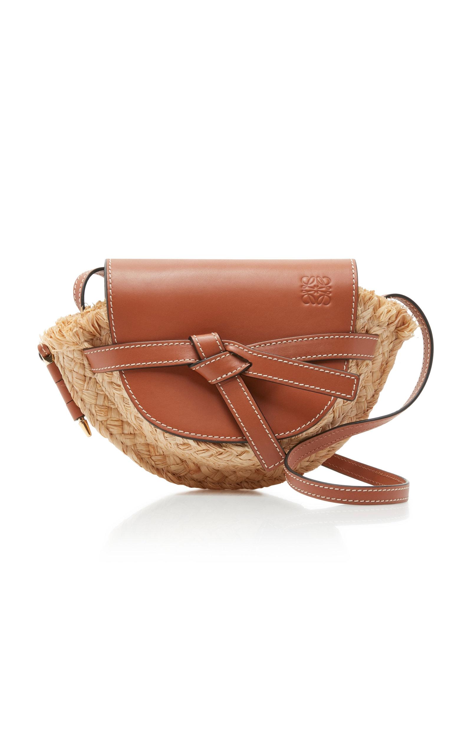 7847c5cfe Gate Mini Raffia and Leather Bag by Loewe | Moda Operandi
