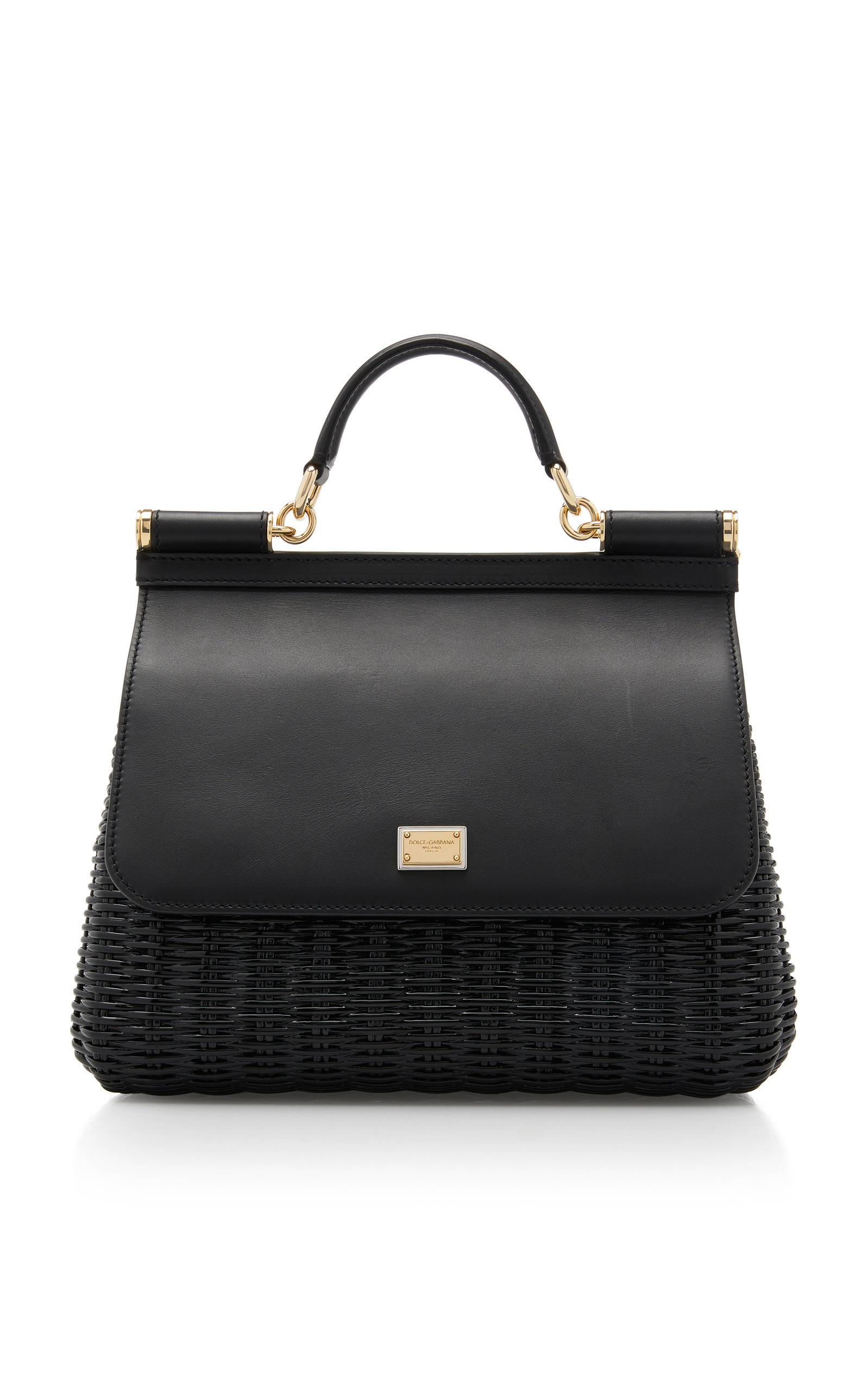 2a0e71af59 Leather Sicily Bag by Dolce   Gabbana
