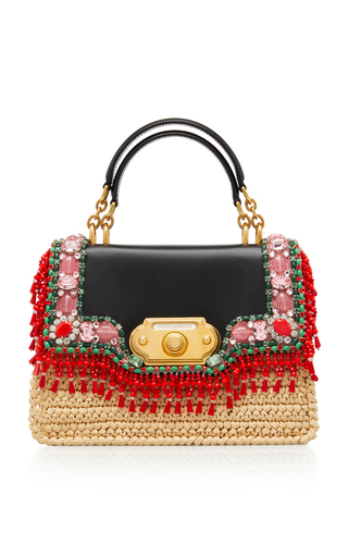 5bea0325de Dauphine Sicily Hand-Painted Leather Bag by Dolce   Gabbana