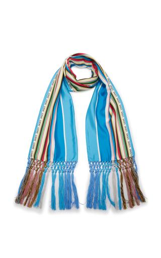 LOEWE | Loewe Silk Striped Scarf | Goxip