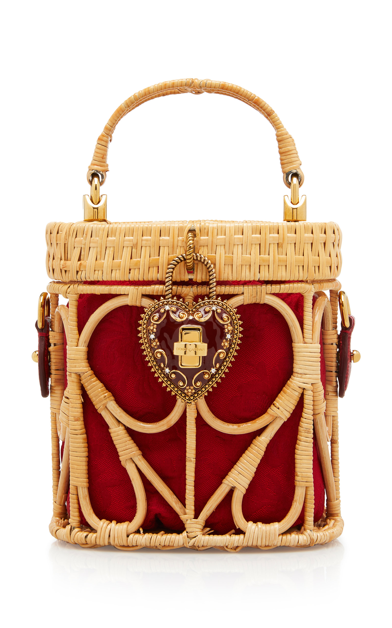 Raffia and Leather Basket Top-Handle Bag by Dolce   Gabbana  894c332f57799