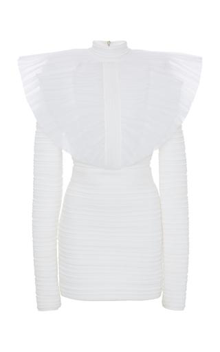 a37a6442 Ended · BalmainMockneck Pleated Knit Dress