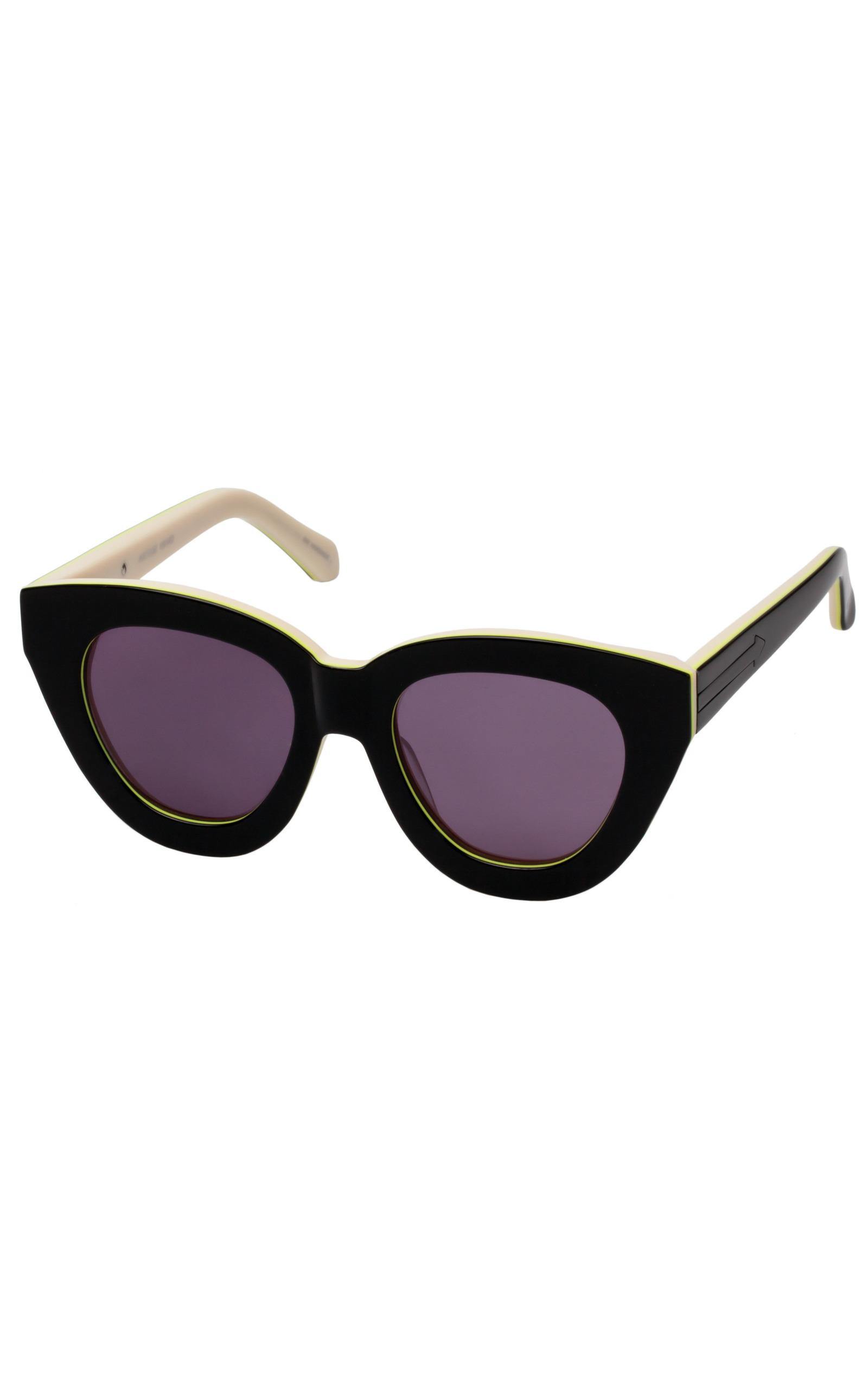 cb35a2938d3e Anytime Black Fluro Sunglasses by Karen Walker