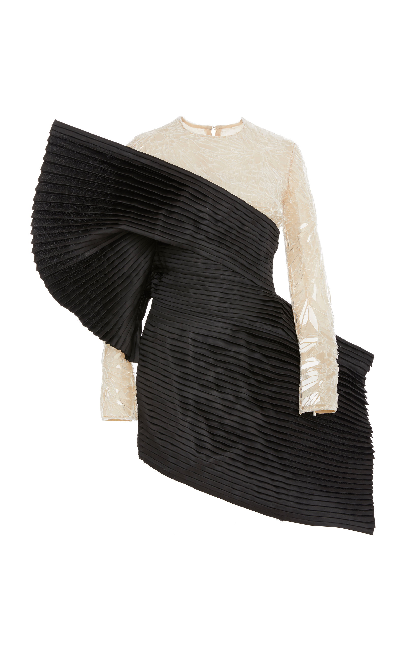154f03b0 Embroidered Pleated Silk Dress by Balmain | Moda Operandi
