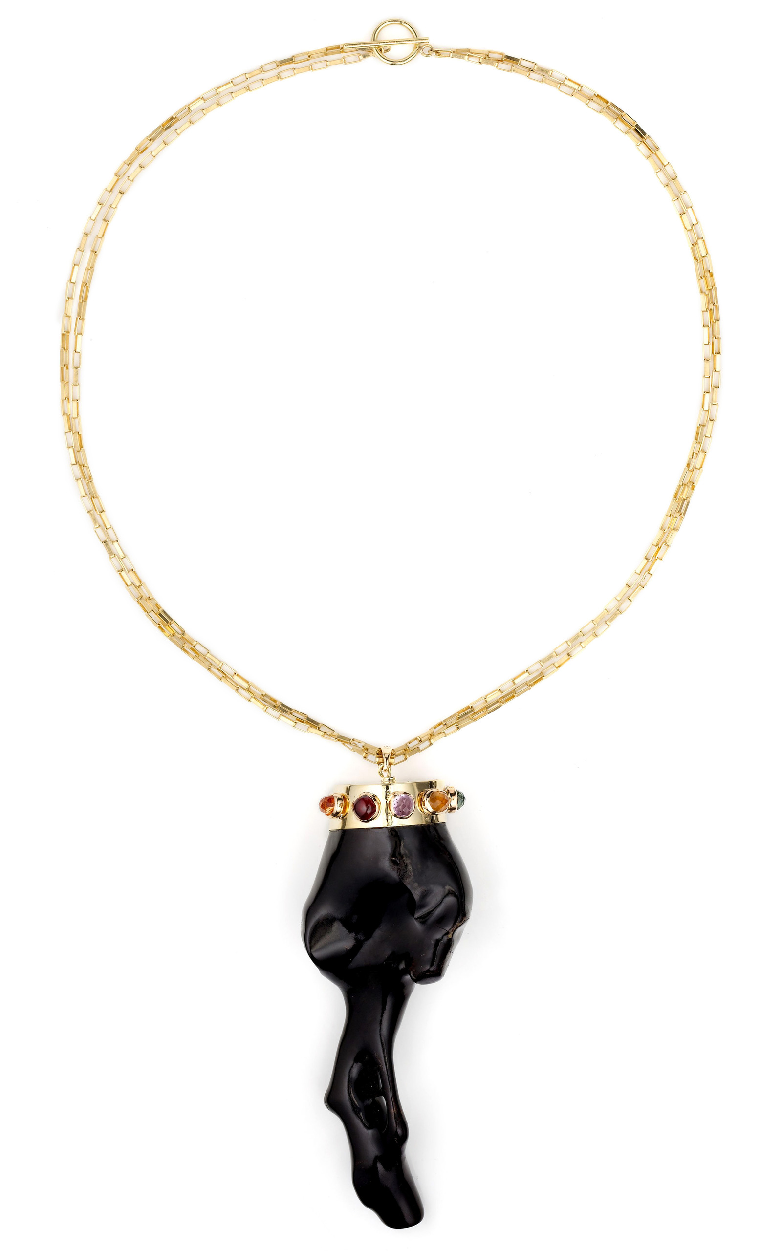 Black coral pendant by kara ross moda operandi mozeypictures Gallery