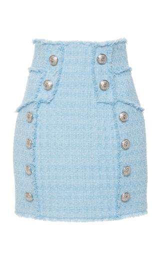 0ccf807f Button-Embellished Tweed Mini Skirt by Balmain | Moda Operandi