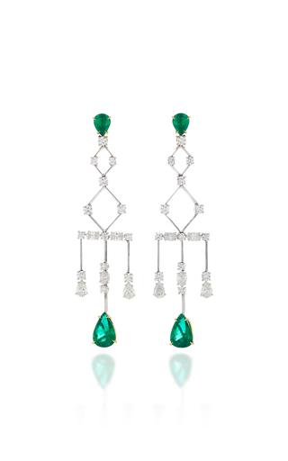 ARA VARTANIAN | Ara Vartanian 18K Gold Diamond And Emerald Earrings | Goxip