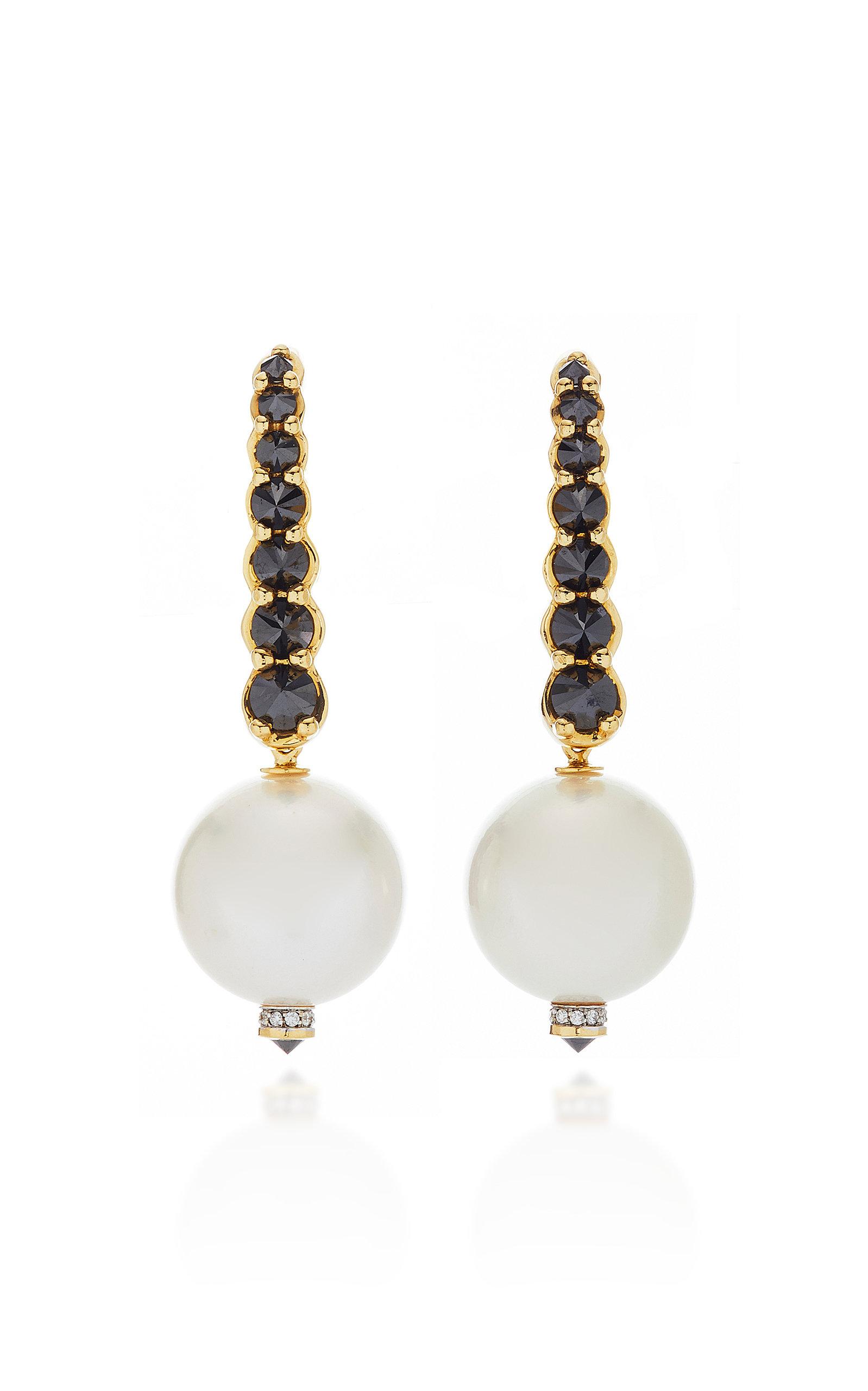 ARA VARTANIAN 18K Gold Earrings With Pearl in White