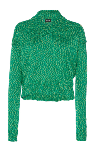 ATLEIN | Atlein Cropped Double Knitted Cotton Sweater | Goxip