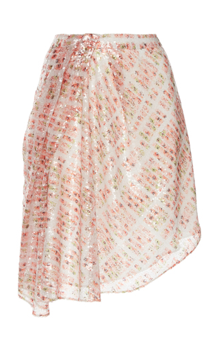 ATLEIN | Atlein Draped Sequin Skirt | Goxip