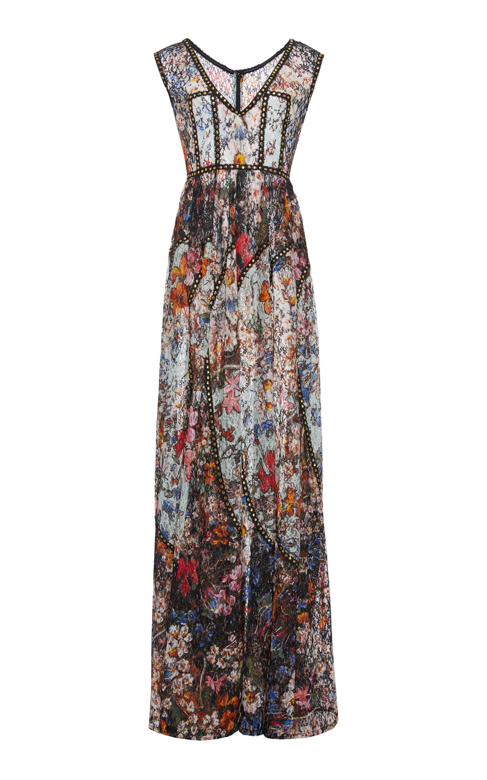 963ba2ff1e2 Elie SaabFloral Printed Lace Maxi Dress. CLOSE. Loading