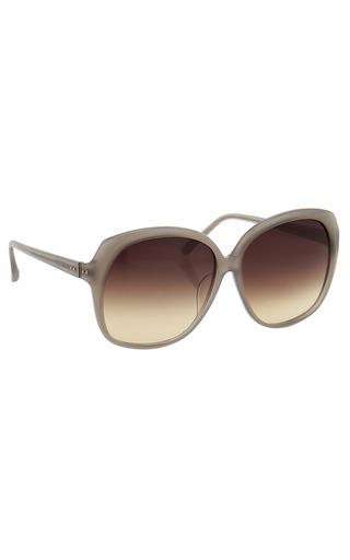 Medium linda farrow dark grey luxe oversized sunglasses 3