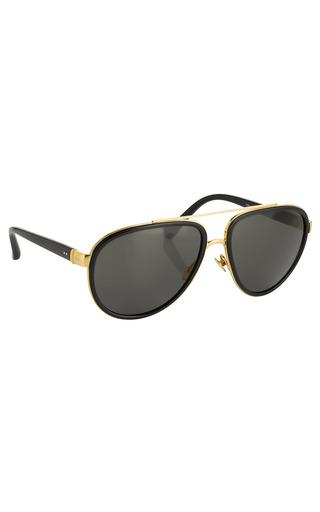 Medium linda farrow gold luxe aviator sunglasses 4