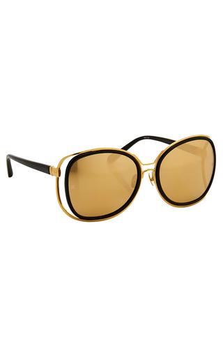 Medium linda farrow black luxe oversized double frame sunglasses