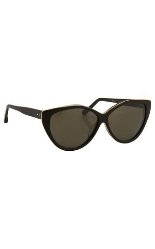 Medium linda farrow black luxe classic cat eye sunglasses 3