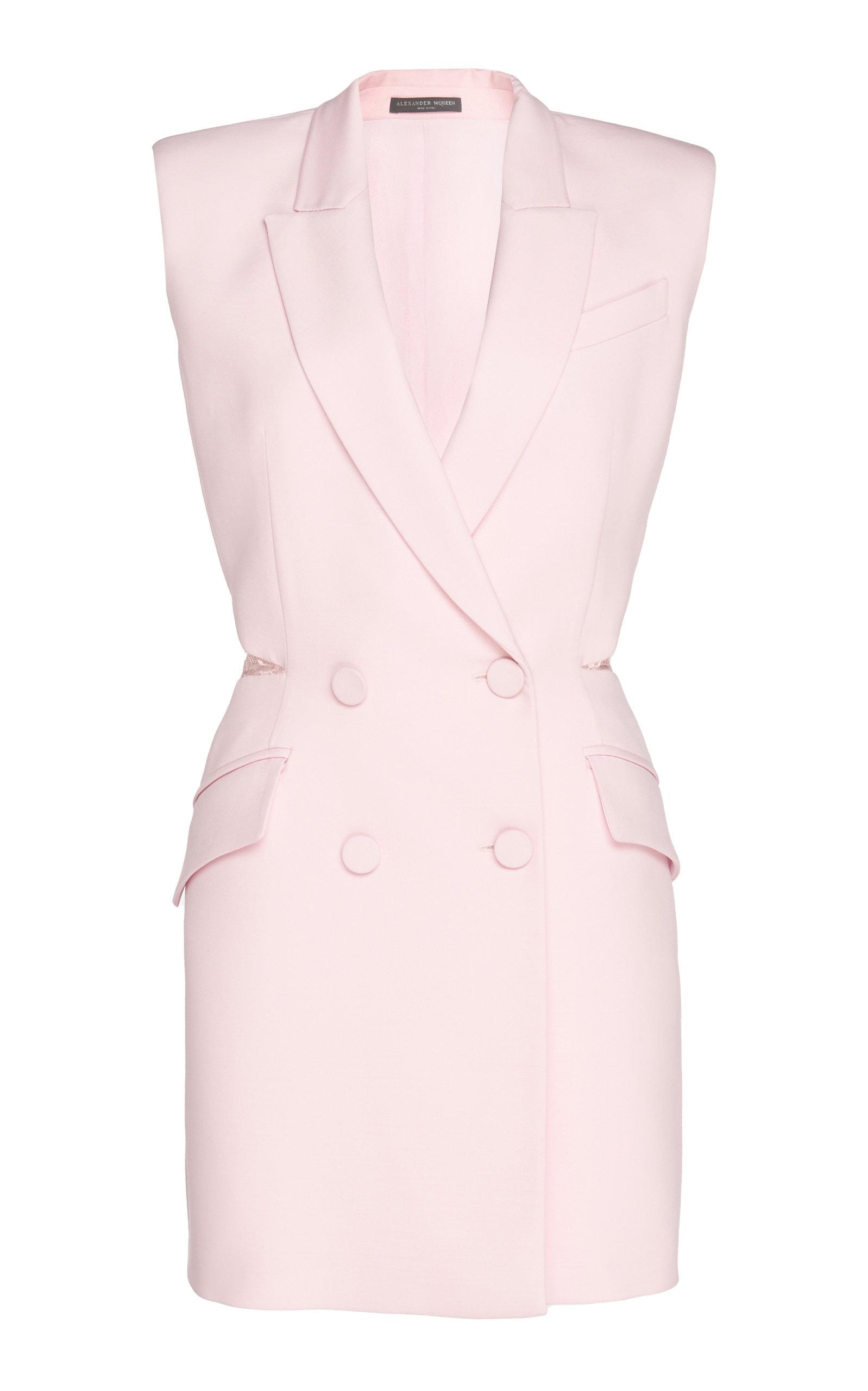 Alexander Mcqueen Jackets Double Breasted Light Wool-Blend Vest